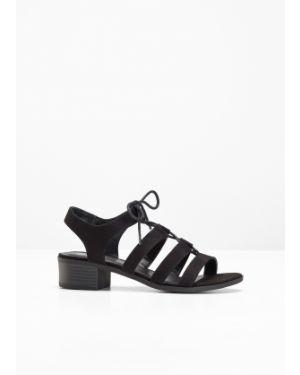 Сандалии на шнуровке черные Bonprix