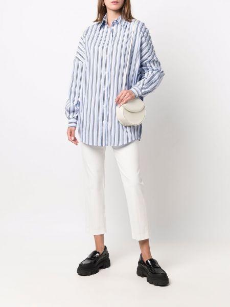 Синяя рубашка длинная Tela
