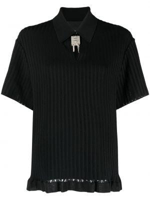 Koszula z jedwabiu - czarna Givenchy