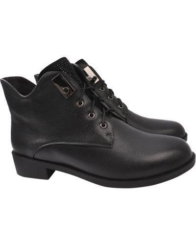 Кожаные ботинки - черные Polann