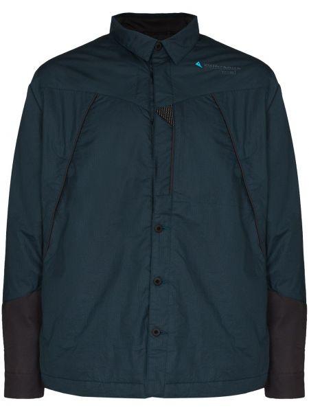 Хлопковая куртка - синяя Klättermusen
