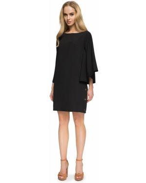 Czarna sukienka nietoperze z wiskozy Stylove