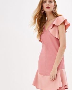 Повседневное платье розовое осеннее Dorothee Schumacher