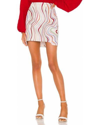Льняная бежевая юбка свободного кроя C/meo