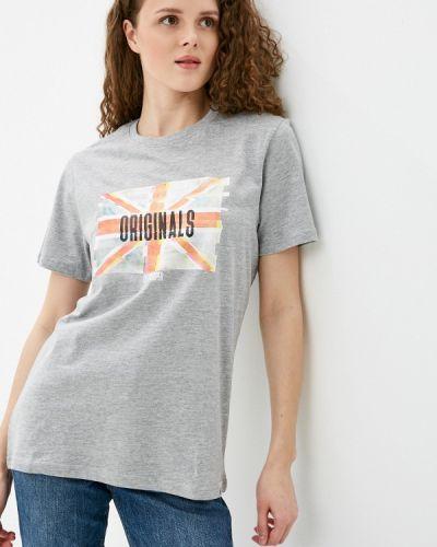 Серая футболка с короткими рукавами Lee Cooper