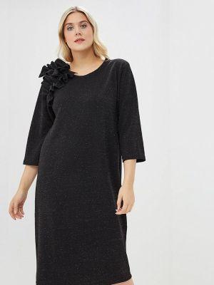 Платье осеннее черное Артесса