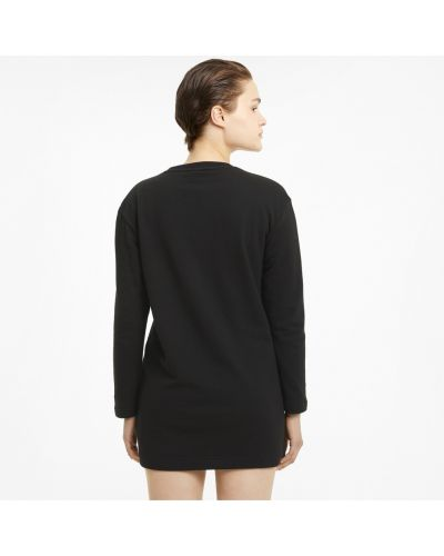Черное спортивное платье макси Puma