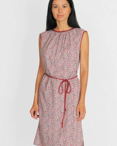 Повседневное платье осеннее красный Lila