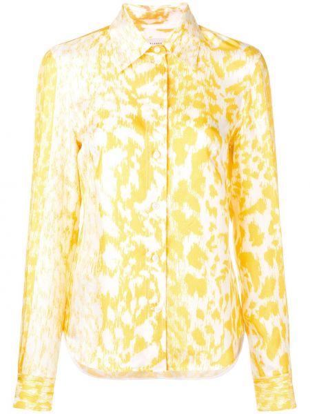 Шелковая с рукавами классическая рубашка с воротником Victoria Beckham