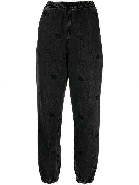 Spodnie bawełniane z haftem Alexander Wang