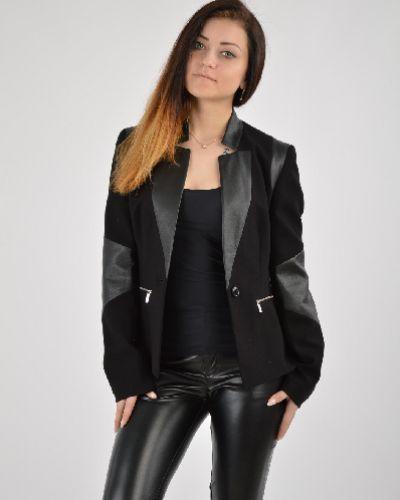 Черный пиджак с подкладкой из вискозы Karen Millen
