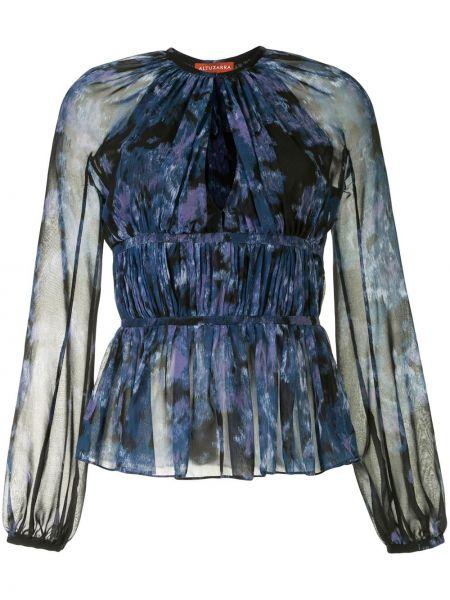 Синяя блузка с рукавом реглан с вырезом Altuzarra