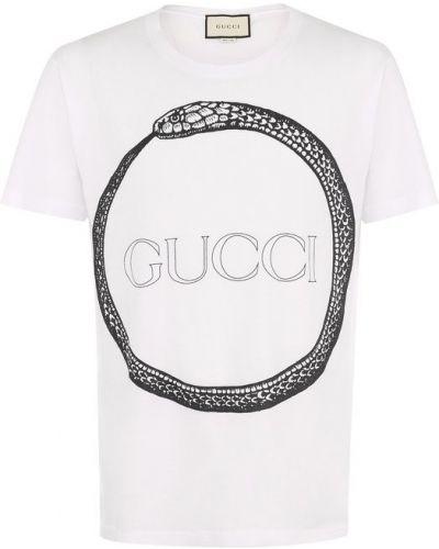 Белая футболка Gucci