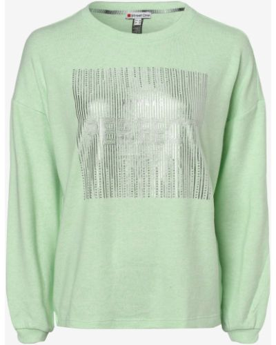 Zielony sweter z printem Street One
