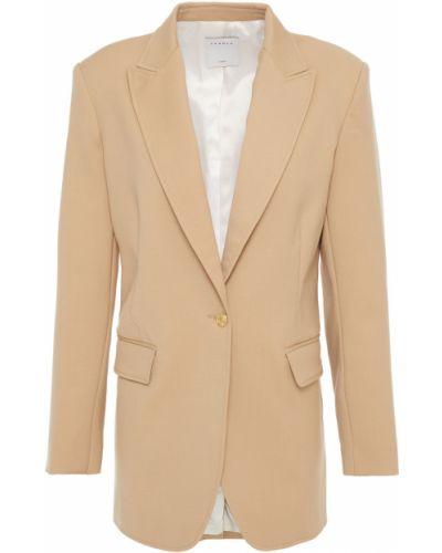 Бежевый шерстяной пиджак с подкладкой Sandro