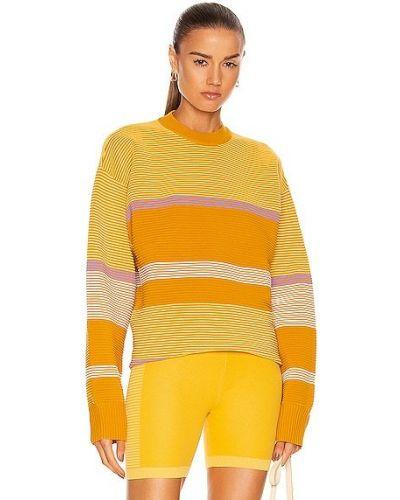 Żółty sweter bawełniany Nagnata