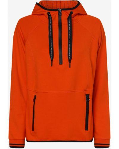Bluza sportowa z kapturem - pomarańczowa Cecil