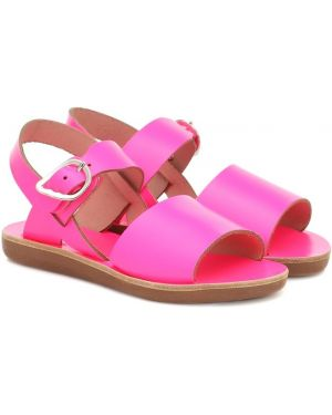 Skórzany sandały różowy żółty Ancient Greek Sandals Kids
