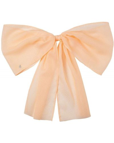 Pomarańczowy jedwab spinka do włosów Maison Michel