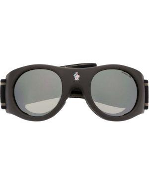 Очки хаки Moncler Eyewear