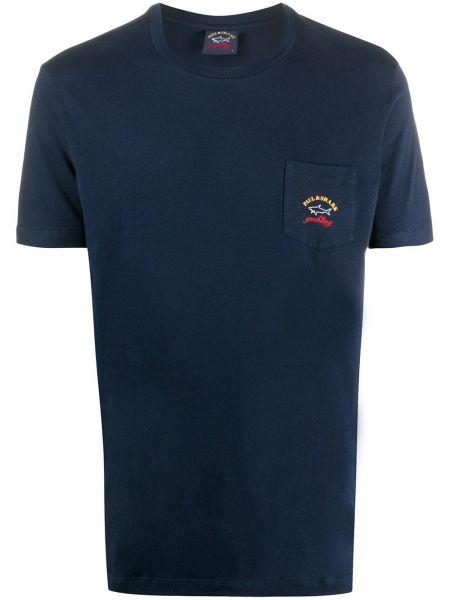 Koszula krótkie z krótkim rękawem prosto z haftem Paul & Shark