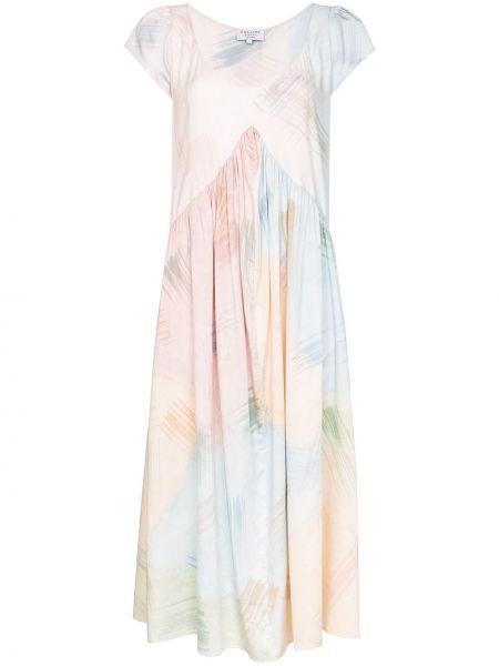 Sukienka midi - różowa Collina Strada