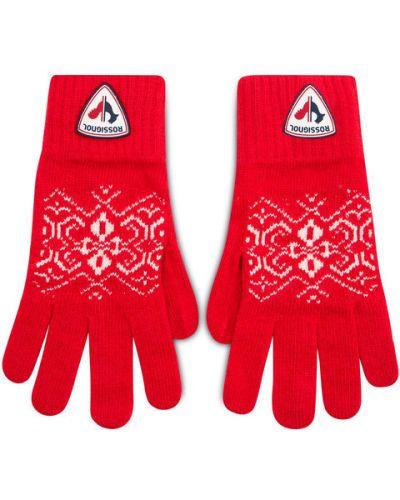 Czerwone rękawiczki Rossignol