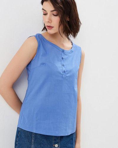 Блузка без рукавов синяя весенний Savage