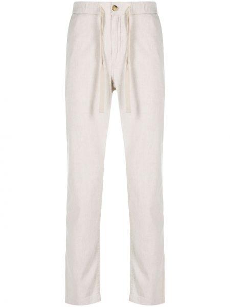 Beżowe spodnie bawełniane zapinane na guziki John Varvatos