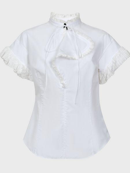Хлопковая блузка - белая Rochas
