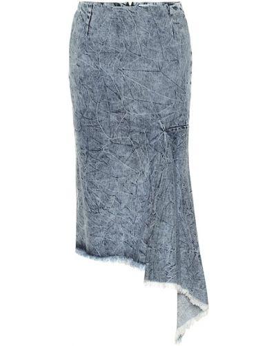 Юбка миди джинсовая асимметричная Balenciaga