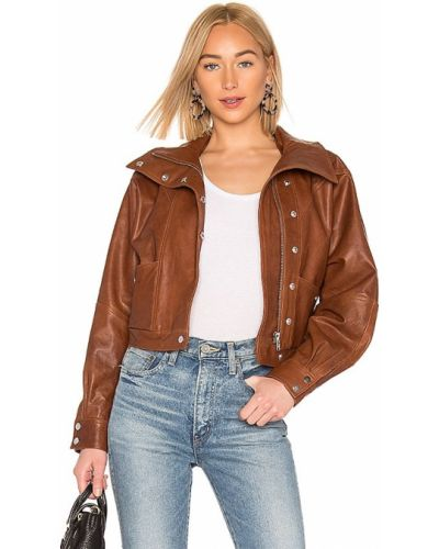 Кожаная куртка - коричневая Lpa