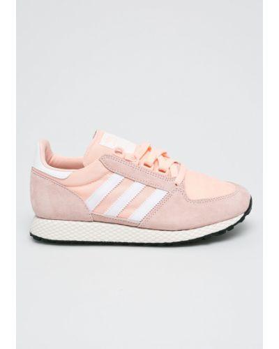 Розовые ботинки на шнуровке Adidas Originals