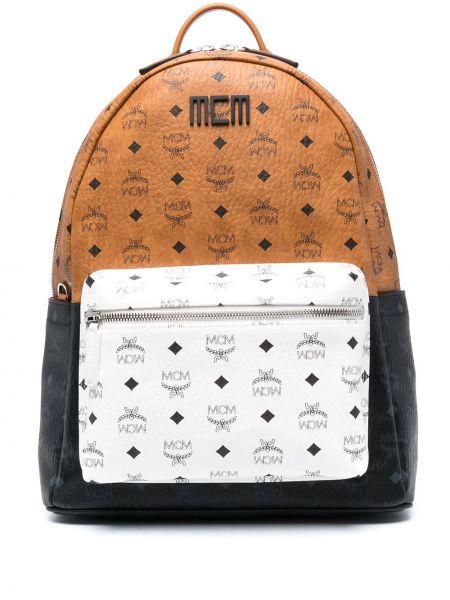 Plecak skórzany - biały Mcm