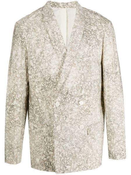 Шелковый пиджак двубортный Lemaire
