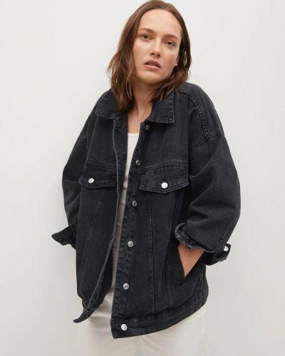 Джинсовая куртка - черная Mango