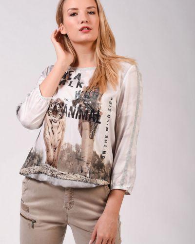 Белая блузка из вискозы Monari