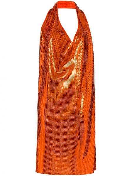 Платье миди с открытой спиной с вырезом Bottega Veneta