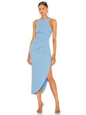 Синее школьное платье из крепа Misha Collection