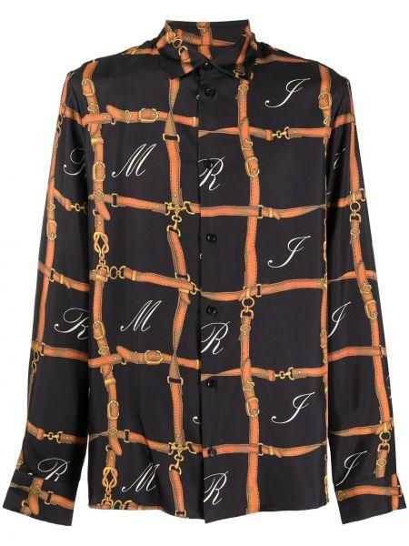 Рубашка с длинным рукавом - черная Amiri