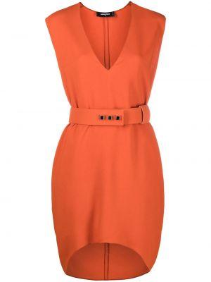 Платье с поясом без рукавов с вырезом Dsquared2