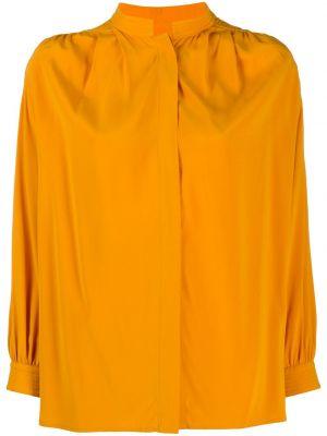 Оранжевая шелковая рубашка с воротником с потайной застежкой Christian Wijnants