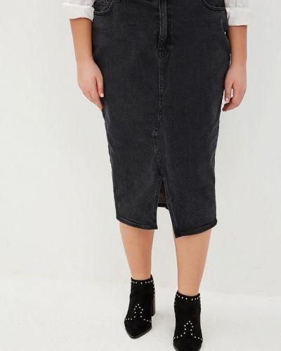 Джинсовая юбка черная Lost Ink Plus