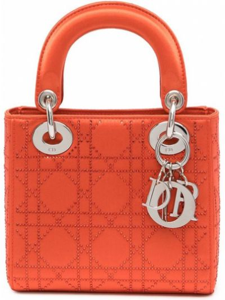 Pomarańczowa torebka srebrna Christian Dior