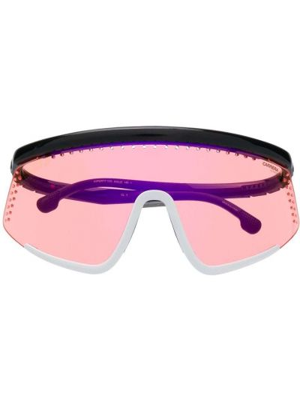 Белые солнцезащитные очки оверсайз Carrera