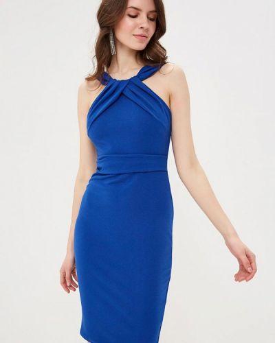 Платье весеннее синее City Goddess