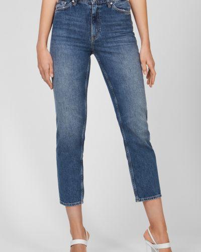 Прямые синие укороченные джинсы Gant
