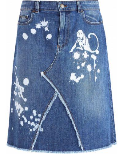 Юбка-трапеция классическая джинсовая Redvalentino