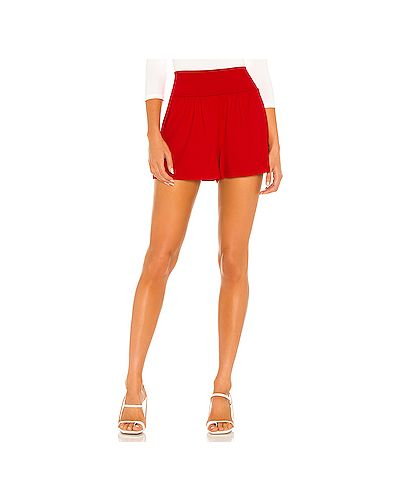 Красные нейлоновые шорты на резинке Susana Monaco