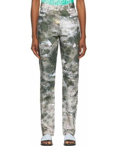 Mom jeans srebrne - niebieskie Serapis